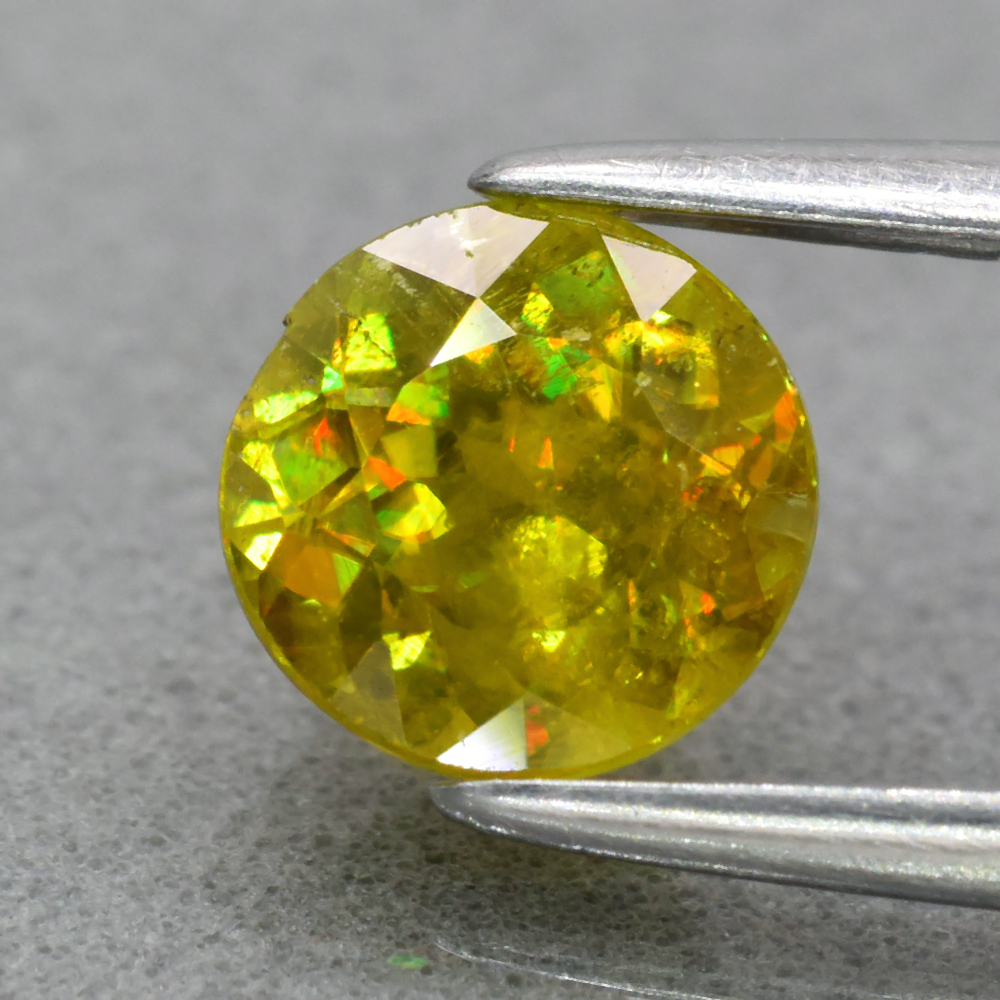 Genuine 100% Natural Sphene 0.99ct 6.0 x 6.0mm Round Cut SI1 Clarity