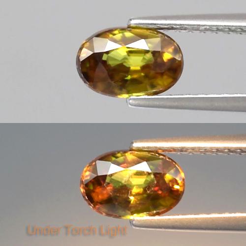 Genuine 100% Natural Sphene 1.01ct 7.3x4.8x3.4mm VS1 Madagascar