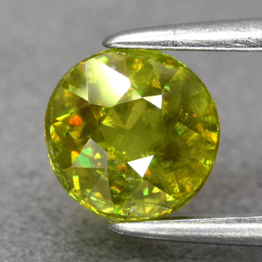 Genuine 100% Natural Sphene 1.04ct 5.8 x 5.8mm Round Cut SI1 Clarity
