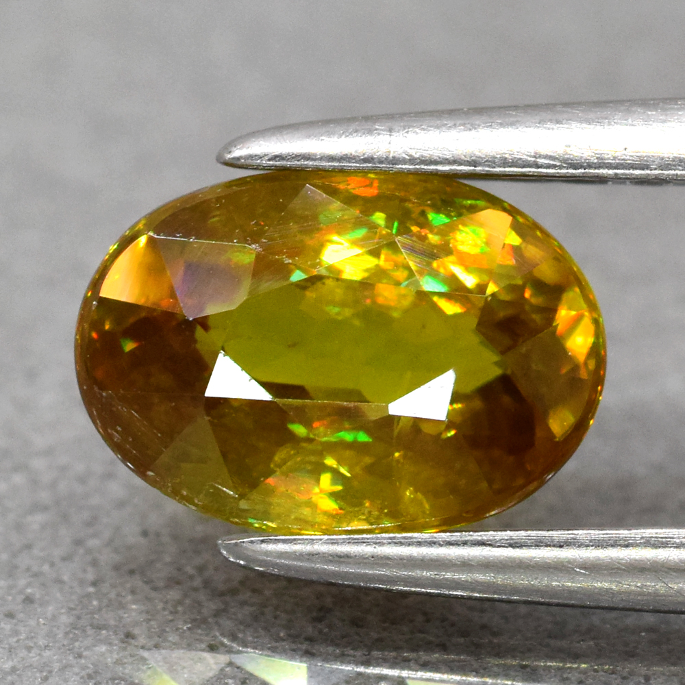 Genuine 100% Natural Sphene 1.06ct 7.2 x 5.0mm Oval SI1 Clarity