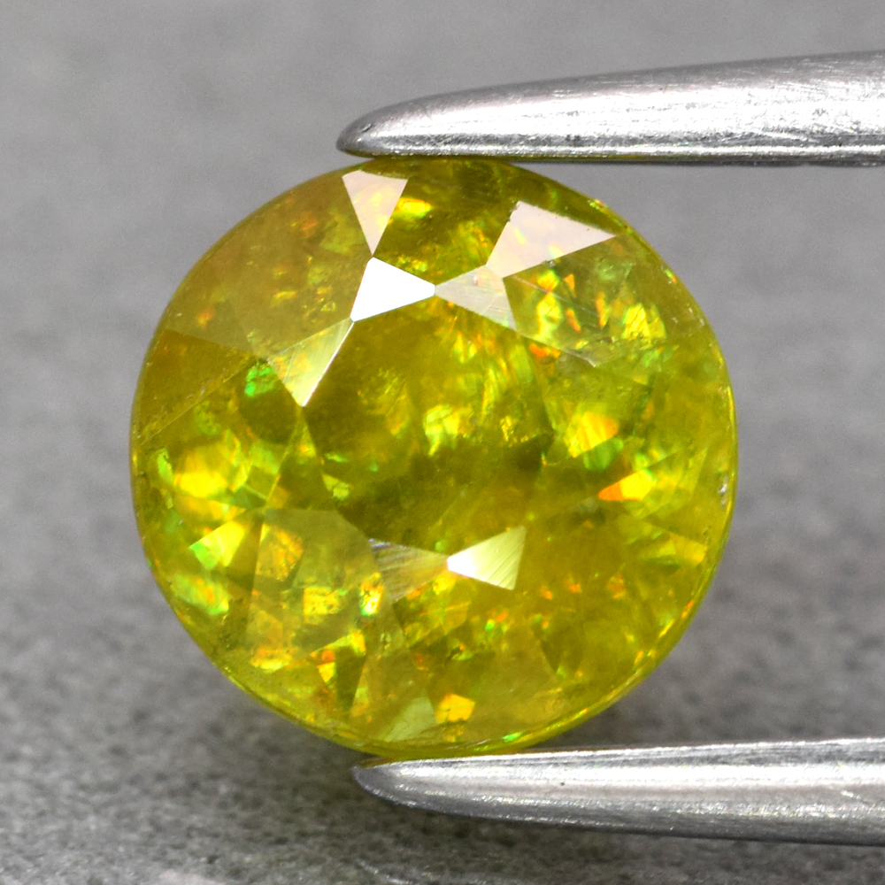 Genuine 100% Natural Sphene 1.08ct 6.0 x 6.0mm Round Cut SI2 Clarity