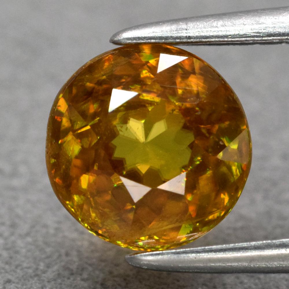 Genuine 100% Natural Sphene 1.18ct 6.3 x 6.3mm Round SI1 Clarity