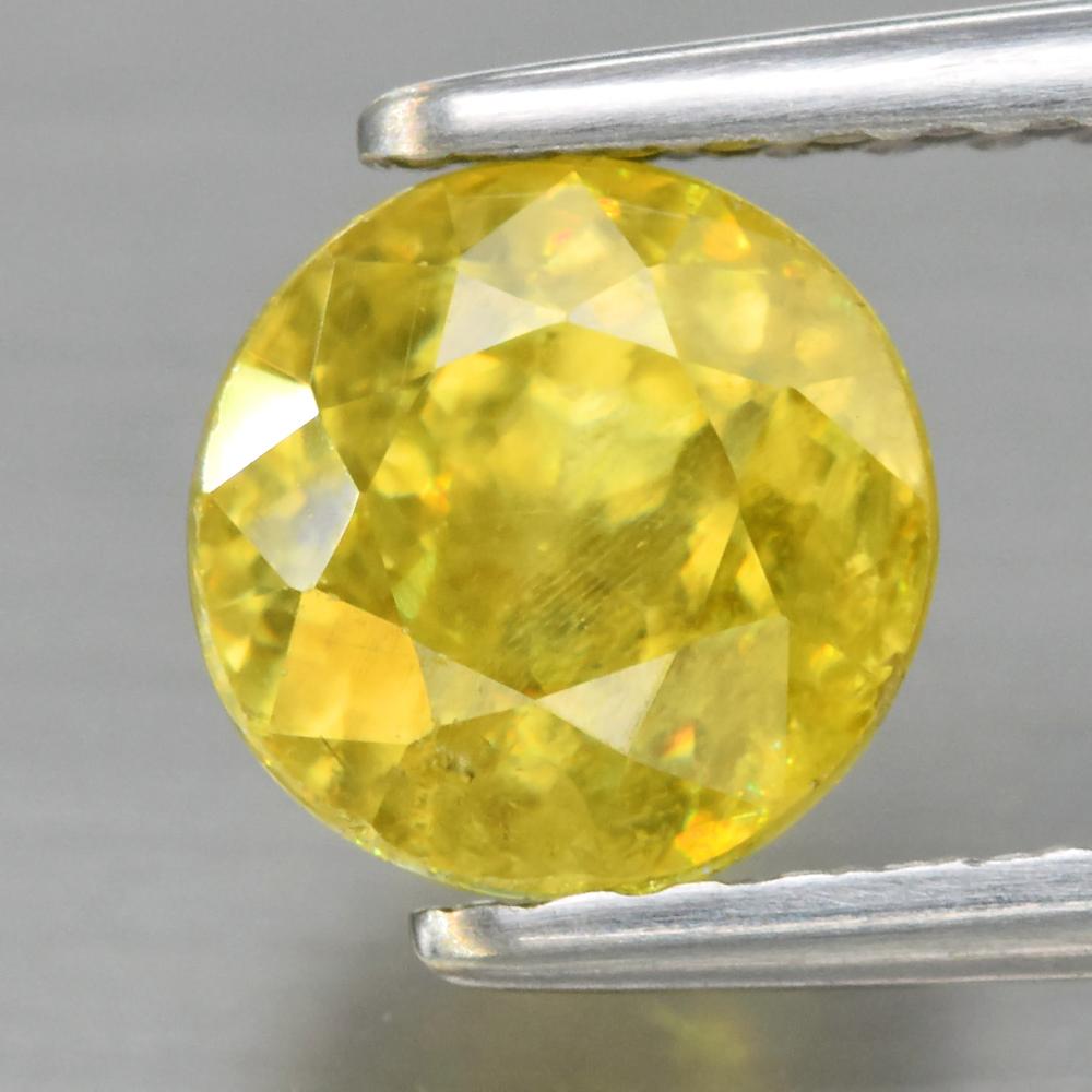 Genuine 100% Natural Sphene 1.25ct 6.0 x 6.0mm Round Cut SI1 Clarity