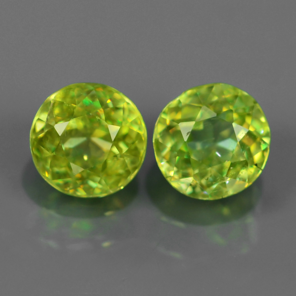 Genuine 100% Natural (2) Sphene 1.31ct 5.5x5.5mm SI1 Madagascar