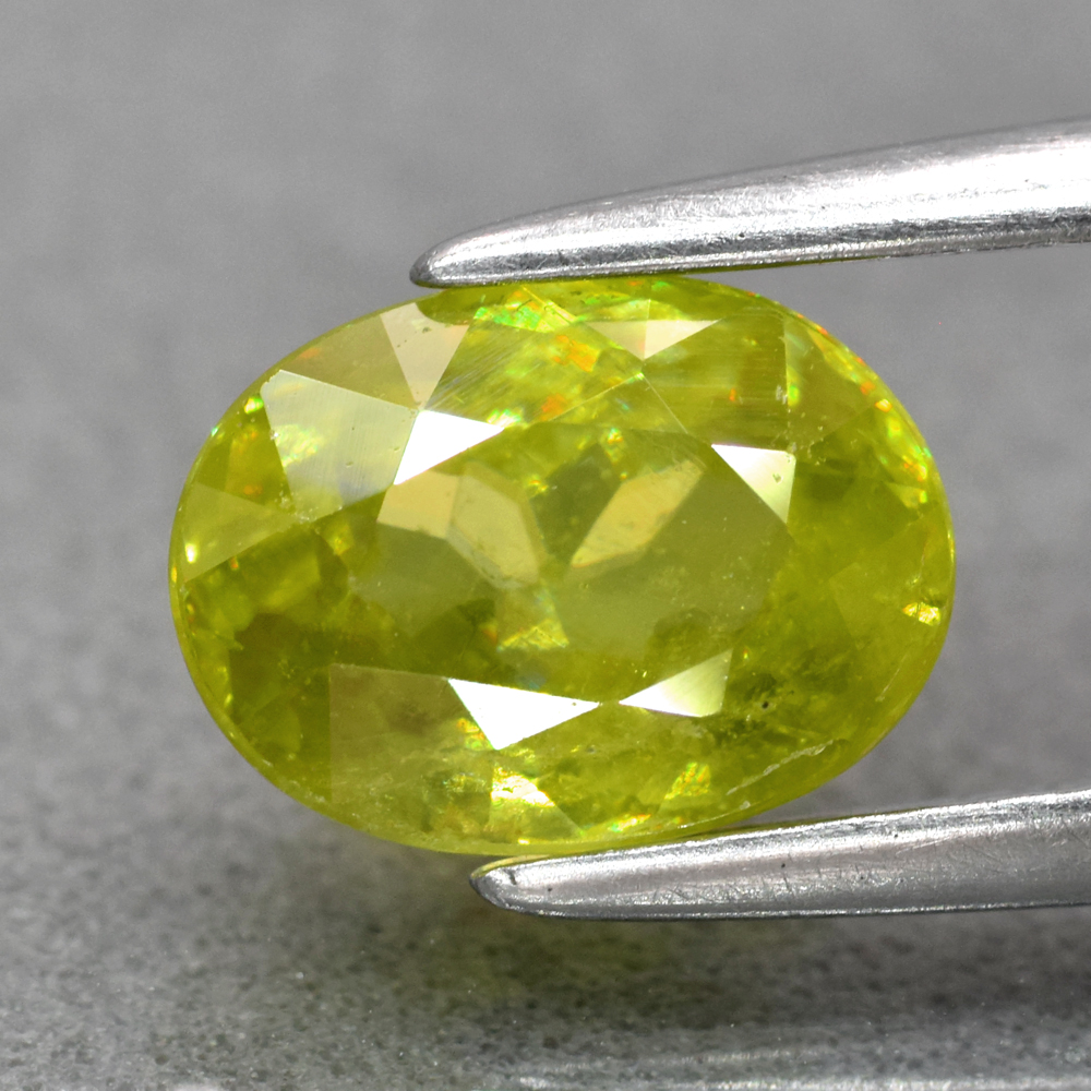 Genuine 100% Natural Sphene 1.33ct 7.3 x 5.4mm Oval SI1 Clarity