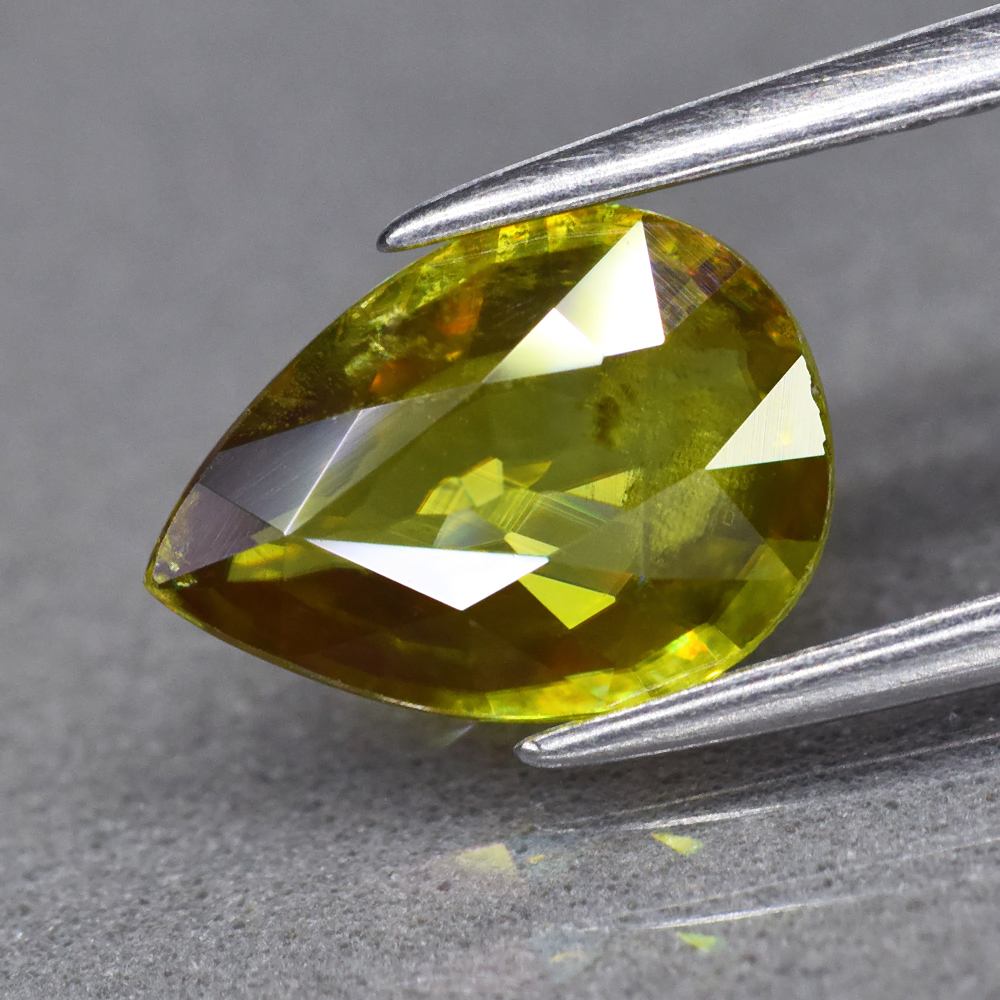 Genuine 100% Natural Sphene 1.48ct 9.6 x 7.0mm Pear SI1 Clarity