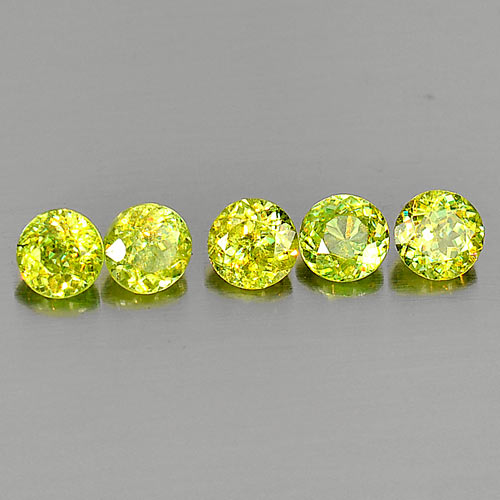 Genuine 100% Natural (5) Sphene 0.48ct 4.6x4.6x3.1mm VS1 Madagascar