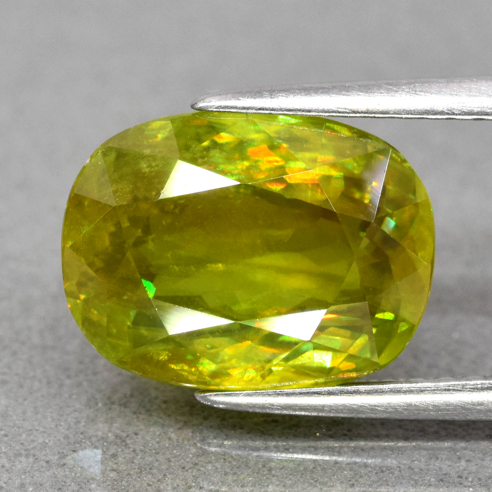 Genuine 100% Natural Sphene 4.46ct 11.0 x 8.3mm Oval SI1 Clarity