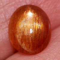 Genuine 100% Natural Sunstone 1.74ct 9.2x7.7x3.7mm Opaque Madagascar