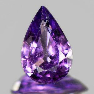 Genuine Violet Sapphire Pear .41ct 5.7 x 3.9mm Madagascar VS1