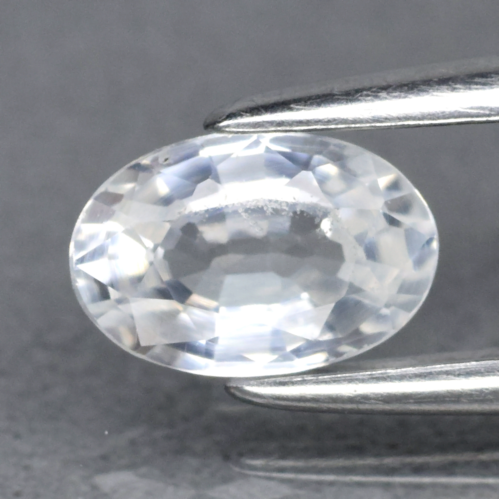 Genuine 100% Natural White Sapphire .60ct 6.0 x 4.0mm Oval VS Clarity