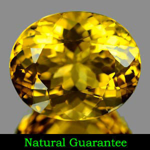 Genuine 100% Natural Yellow Citrine 6.42ct 13.6 x 11.4 x 7.9mm Citrine SI
