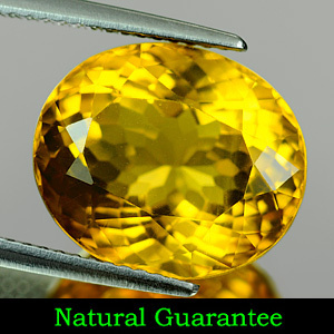 Genuine 100% Natural Yellow Citrine 8.47ct 14.1 x 12.0 x 8.7mm SI