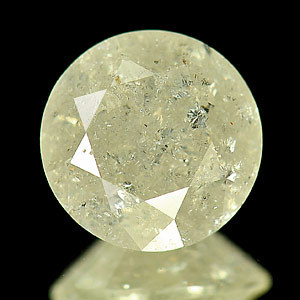 Genuine 100% Natural Large Light Yellow Diamond 2.32ct 8.3 x 8.3mm Round SI Clarity (Certified)