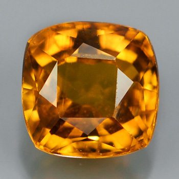 Genuine Orange Sapphire .48ct 4.2 x 4.0mm Square VS1 Clarity