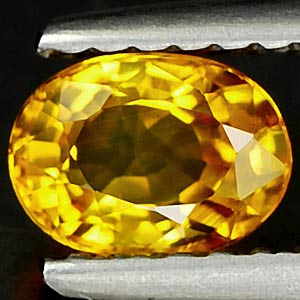 Genuine YELLOW SAPPHIRE .72ct 6.0 x 4.4 x 3.0mm Oval