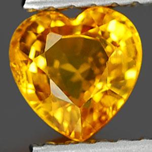 Genuine YELLOW SAPPHIRE .80ct 5.5 x 5.5 x 3.2mm Heart