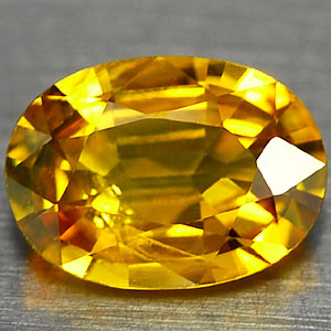 Genuine YELLOW SAPPHIRE .81ct 7.0 x 5.0 x 2.7mm Oval