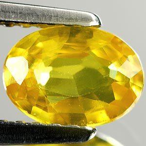 Genuine Yellow Sapphire .94ct 7.1 x 5.2mm Thailand VS1