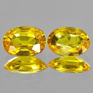 Genuine Yellow Sapphire .48ct 5.9 x 4.0mm Oval VS1 Clarity