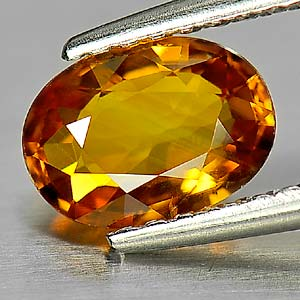 Genuine Yellow Sapphire .98ct 7.1 x 5.1mm Oval VS1 Clarity