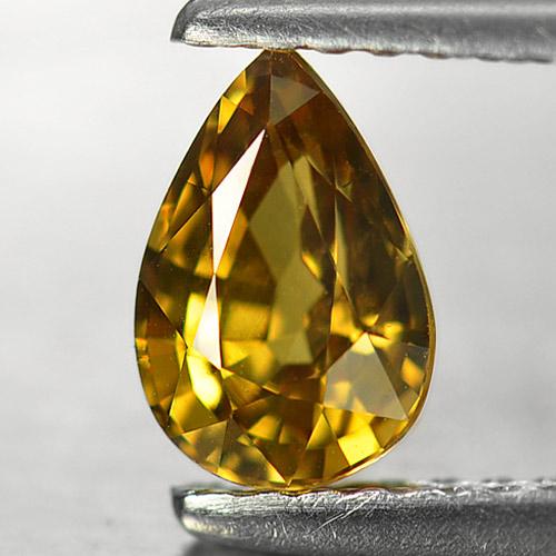Genuine Yellow Sapphire .98ct 7.2 x 5.0mm Pear VVS Clarity
