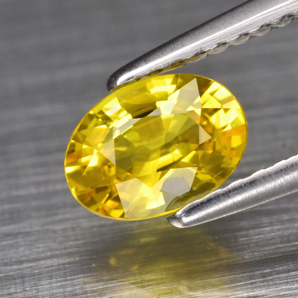 Genuine Yellow Sapphire .82ct 6.7 x 4.8mm Oval VS Clarity