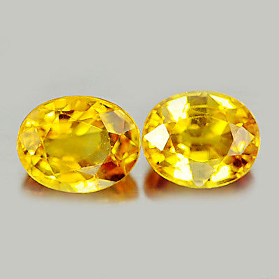 Genuine Yellow Sapphires 0.91ct 6.3x5x3.4mm VS1 Thailand