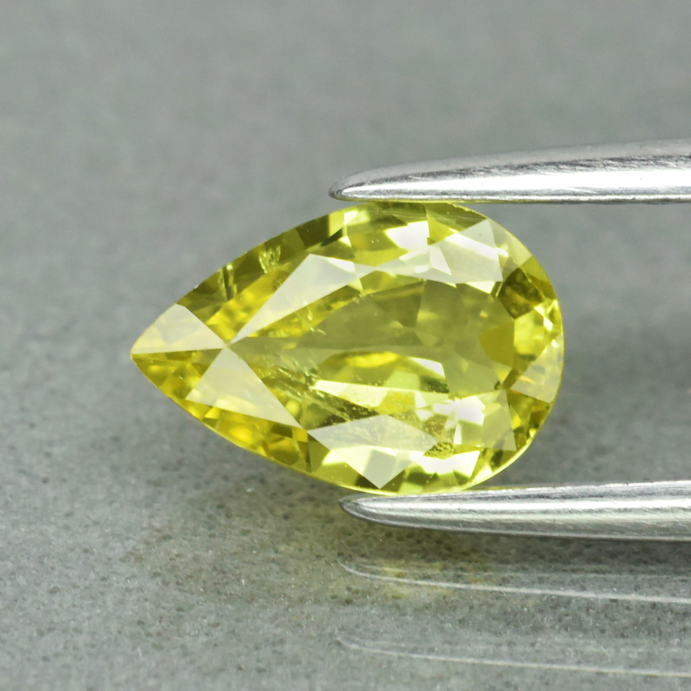 Genuine 100% Natural Yellow Sapphire 1.00ct 7.7 x 5.3mm Pear SI1 Clarity