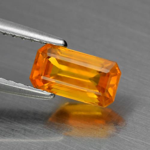 Genuine Orange Sapphire 1.03ct 7.5 x 4.0mm SI1 Ceylon Octagon