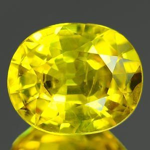 Genuine YELLOW SAPPHIRE 1.04ct 6.6 x 5.4 x 3.4mm Oval