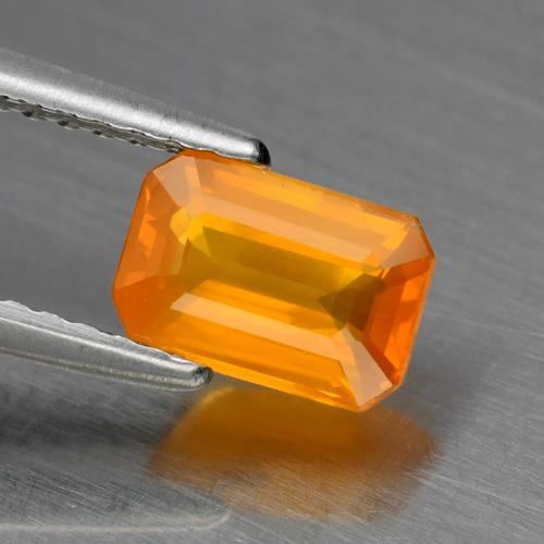 Genuine Orange Sapphire 1.06ct 7.0 x 4.7mm SI1 Ceylon Octagon