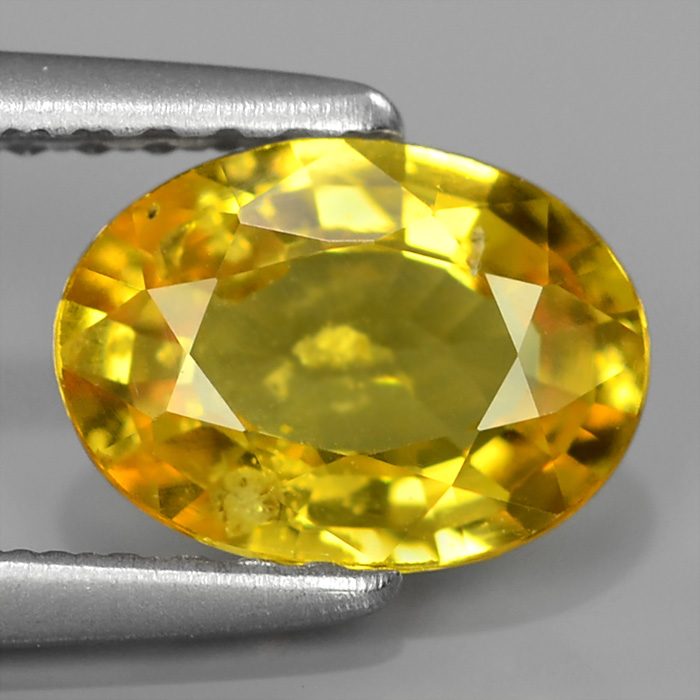 Genuine Yellow Sapphire 1.09ct 7.5x5.5x2.8mm SI2 Madagascar