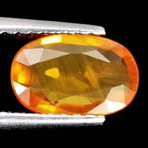 Genuine Orange Sapphire 1.10ct 8.3 x 5.5mm Oval VS1 Clarity