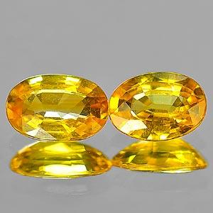 Genuine Yellow Sapphire .56ct 5.9 x 4.0mm Oval VS1 Clarity