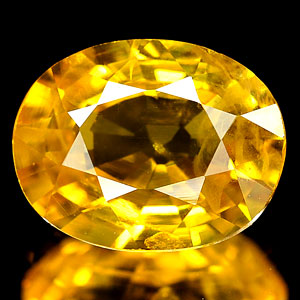 Genuine YELLOW SAPPHIRE 1.16ct 7.2 x 5.8 x 3.2mm Oval