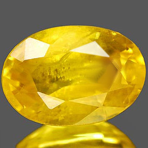 Genuine YELLOW SAPPHIRE 1.18ct 7.2 x 5.0 x 3.6mm Oval