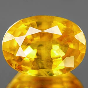 Genuine YELLOW SAPPHIRE 1.20ct 7.1 x 5.2 x 3.5mm Oval