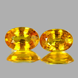 Genuine Yellow Sapphire .60ct 6.3 x 4.4mm Oval VVS Clarity