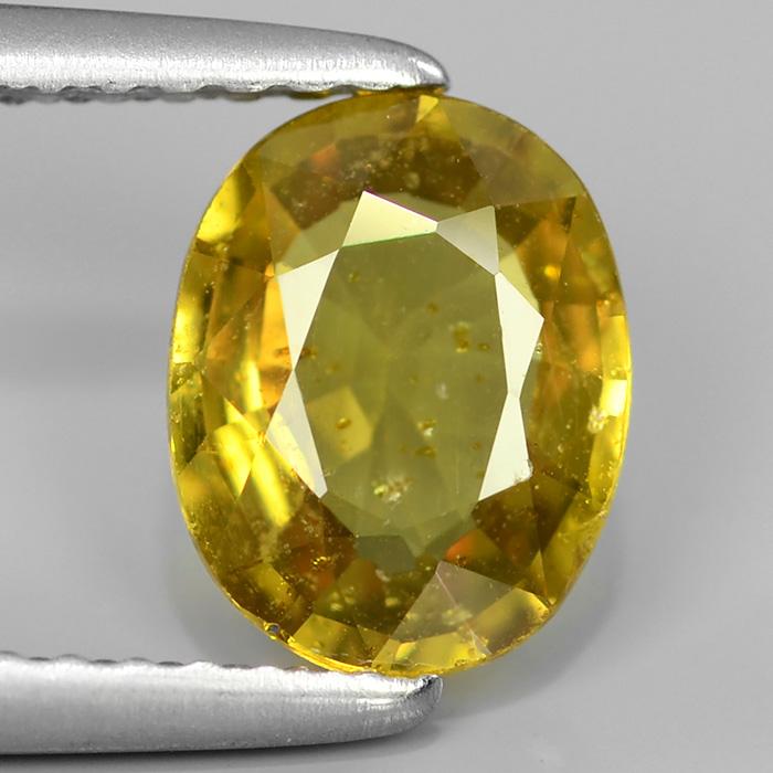 Genuine Yellow Sapphire 1.26ct 7.7x6.0x2.9mm SI2 Madagascar