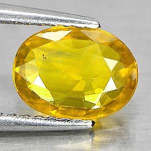 Genuine Yellow Sapphire 1.30ct 8.3 x 6.2mm Oval VS1 Clarity