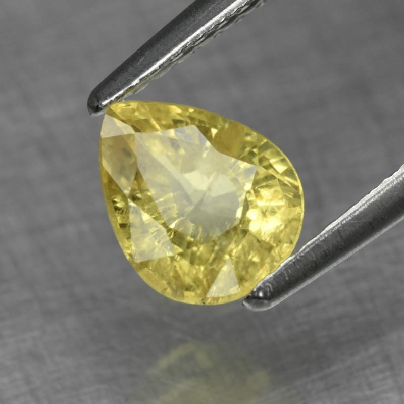 Genuine 100% Natural Yellow Sapphire 1.33ct 7.2x5.8x3.9mm SI1 Madagascar