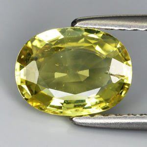 Genuine Yellow Sapphire 1.37ct 8.1 x 6.1mm SI