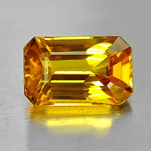 Genuine Yellow Sapphire 1.55ct 7.8 x 5.0mm Octagon VS1 Clarity