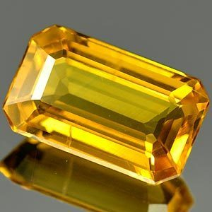 Genuine Yellow Sapphire 1.60ct 9.0 x 5.5mm SI