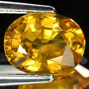 Genuine Yellow Sapphire 1.65ct 12.0 x 8.3 x 5.8mm Thailand VS1