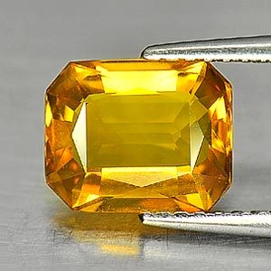 Genuine Yellow Sapphire 2.28ct 8.7 x 7.0mm Octagon IF Clarity