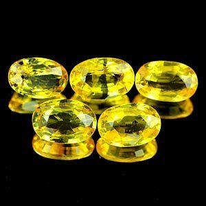Genuine Yellow Sapphire .55ct 6.0 x 4.1 x 2.2mm Tanzania VVS