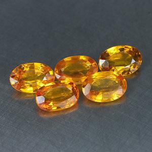 Genuine Yellow Sapphire 0.63ct 6.2 x 4.2 x 2.4mm Tanzania VVS