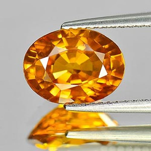 Certified Large Golden Yellow Sapphire 3.25ct 10.1 x 7.6mm Oval IF Clarity